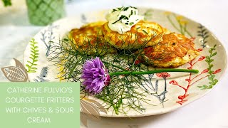 Courgette Fritters with Chives and Sour Cream