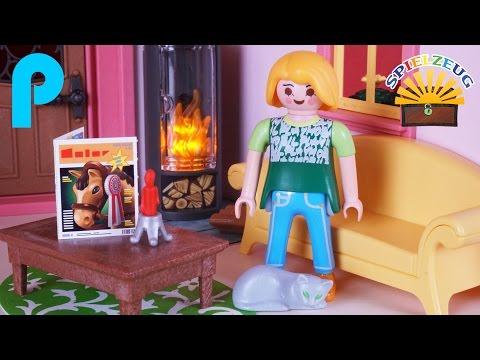 Wohnzimmer mit Kamin Ofen 5308 - Playmobil Puppenhaus Kamin Familie Film Geschichte einrichten