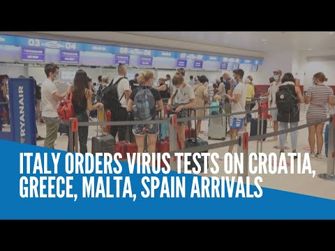 [Inquirer]  Italy orders virus tests on Croatia, Greece, Malta, Spain arrivals