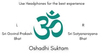 Oshadhi Suktam | Sacred Vedic Chant | Audio Production by Sri K. Suresh
