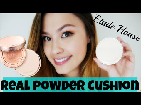First Impressions ♥ Etude House Real Powder Cushion Foundation Korean Makeup Review