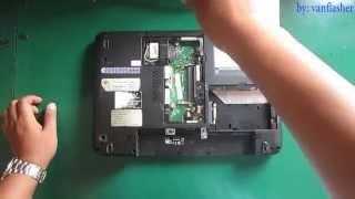 toshiba satellite l15w l15w-b1302 laptop disassembly remove battery