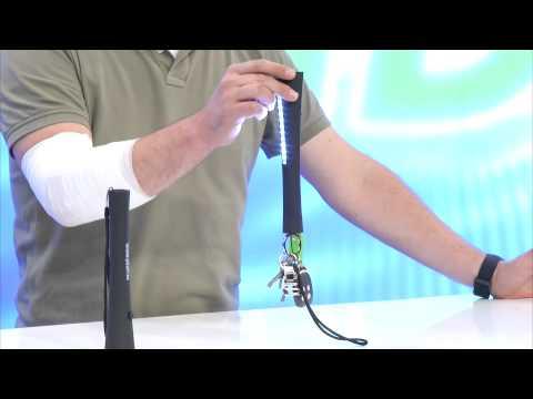 PEARL 2in1-LED-Taschenlampe mit Lichtleiste und Magnet, schwarz