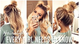 EASY Hairstyles EVERY GIRL Should KNOW! HAIR HACKS!