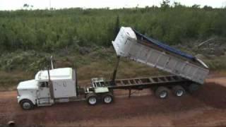 Dump Trailer Rolls Over (Trout River)