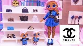 Shopping At CHANEL For Luxury Handbag   OMG LOL Surprise Big Sister + Brother