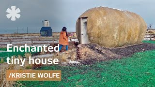 Kristie Wolfe's fairytale tiny house: giant potato + silo conversion