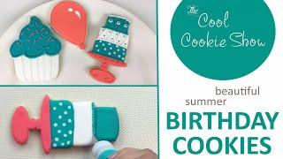 Beautiful Summer Birthday Cookies