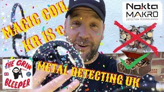 MAGIC KR 18 c COIL NOKTA MAKRO REAL TEST REVIEW METAL DETECTING UK 2019