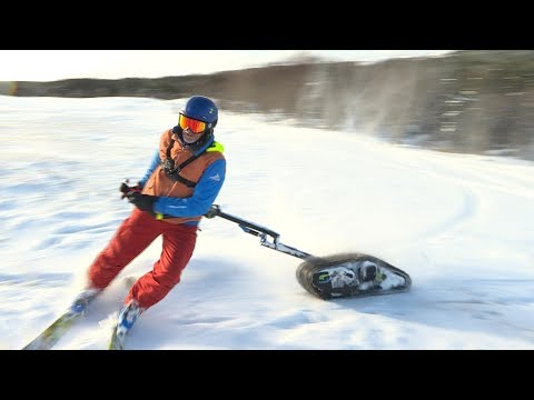 This Motorized Ski Will Make Snow Surfing So Easy!