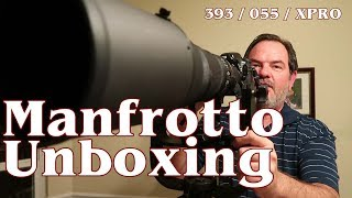 Unboxing Manfrotto 055 Tripod / 393 Heavy Telephoto Lens Support / XPro Ball Head
