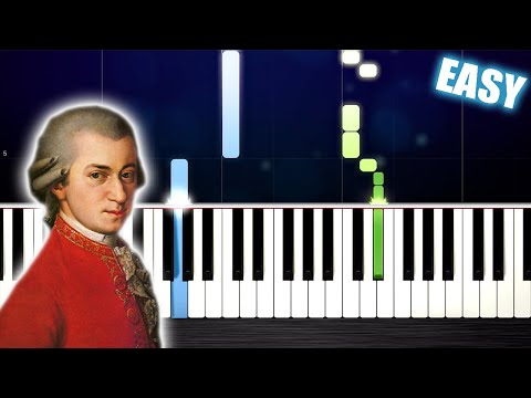 Mozart - Symphony No. 40 - EASY Piano Tutorial by PlutaX