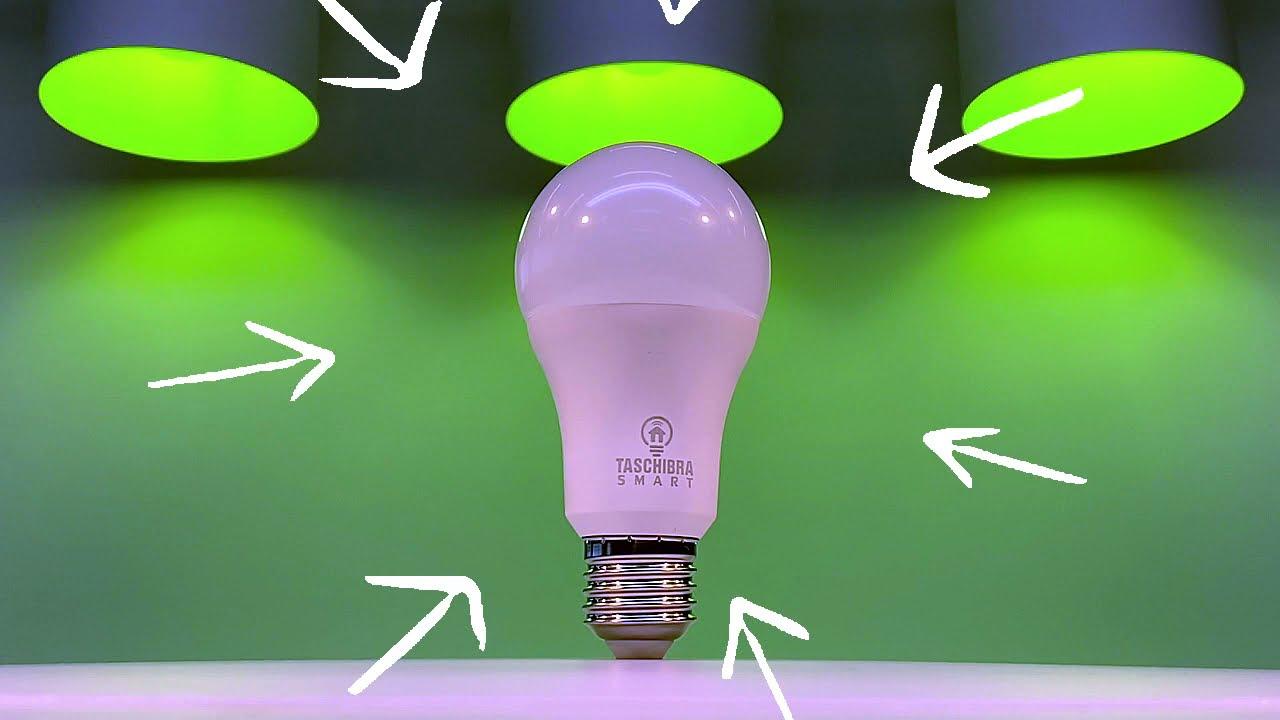 SMART LÂMPADA WI-FI LED TASCHIBRA 10W A60 RGB