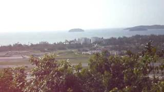 preview picture of video 'View From The Top Of Kepayan Ridge'