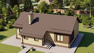 Проект дома 120-F, Площадь дома: 120 м2, Размер дома:  8x11,9 м