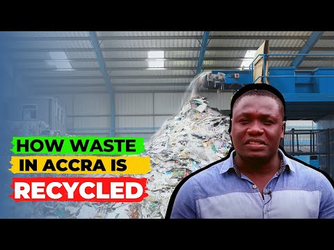 , title : 'How WASTE Is Recycled At an ACCRA Recycling Facility | recycling business- plastic bottles