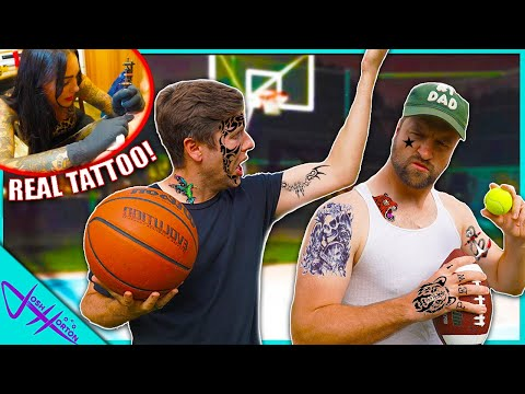 LOSER GETS TATTOO Trick Shot Challenge! (Part 2)