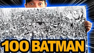 Drawing 100 BATMAN SUITS In Over 24 HOURS! (SaTisFYInG!)