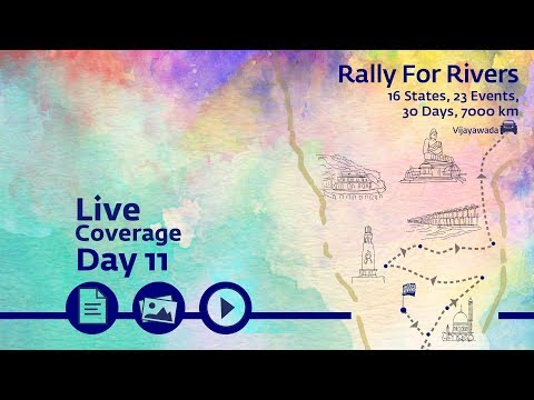 Event Rally for Rivers at Vijayawada