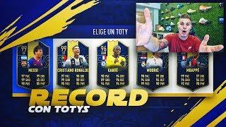 CONSIGO MI RECORD EN FUT DRAFT CON ESTE EQUIPAZO CON 2 TOTY!!   FIFA 19
