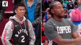 Kawhi Leonard Returns to Canada & Gets a Warm Welcome | October 17, 2019 NBA Preseason