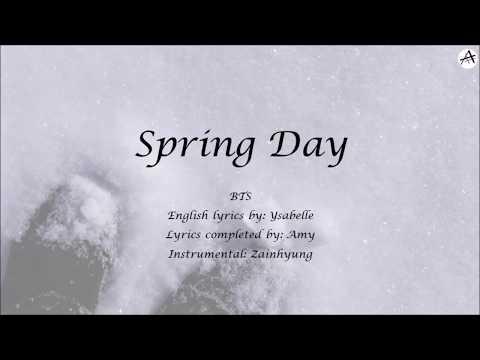 Spring Day (봄날) - English KARAOKE - BTS (방탄소년단) | Completed Ysabelle's Lyrics