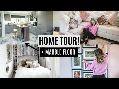 HOUSE TOUR SUMMER 2018 + DIY MARBLE FLOOR & GIVEAWAY