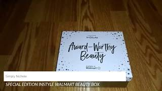 Special Edition Instyle Magazine Walmart Beauty Box Unboxing
