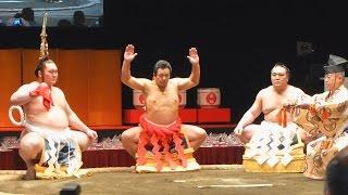 九重親方第58代横綱千代の富士Chiyonofuji還暦土俵入り!美しい四股は健在!2015年5月31日九重親方の還暦を祝う会