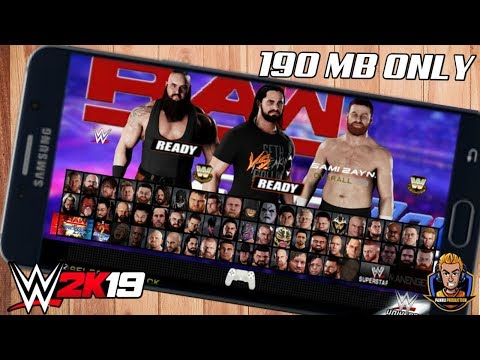 [190 MB] REAL WWE 2K19 PPSSPP ANDROID DOWNLOAD NOW | WWE 2K19 ANDROID DOWNLOAD