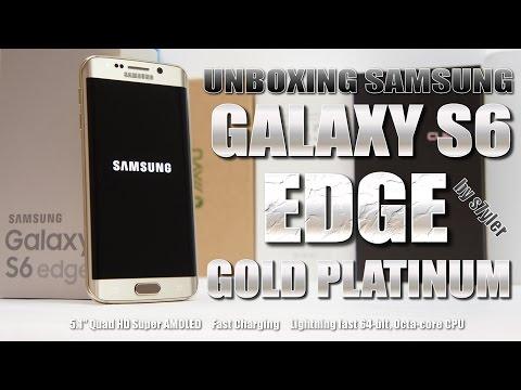 "Samsung Galaxy S6 Edge 64GB Gold Platinum (Hands-on & Unboxing) 5.1"" Quad HD Super AMOLED, Octa Core"