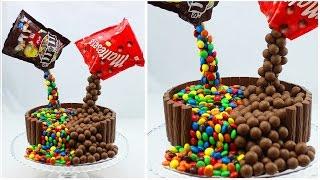 Illusion Candy Cake Mit M&Ms Und Maltesers / Gravity Defying Candy Cake / Schwebe-Kuchen