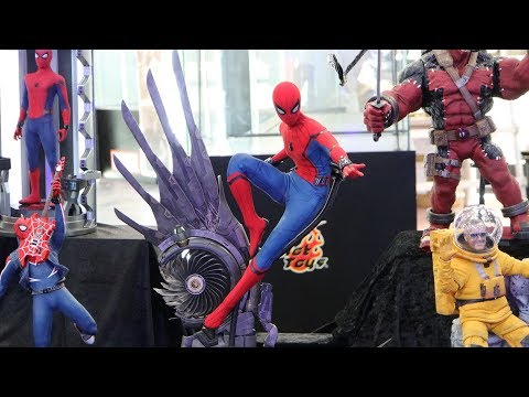 """First Look! Hot Toys 1/4th Scale """"Home Coming"""" Spider-Man & PS4 Spider-Man Suits"""