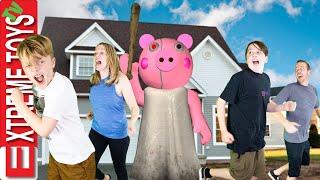 Piggy Attacks! Sneak Attack Squad Family Plays Roblox Piggy!