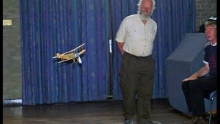 preview picture of video 'Bristol Scout at St Helens Indoor - Rubber Power Indoor Flyer - Free Flight'