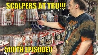 WWE ACTION INSIDER: Toyrus Fat ass Scalpers in the wrestling figure mattel elites aisle shopping