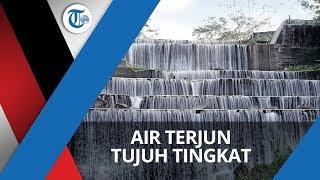 Wisata Baru Grojokan Watu Purbo dengan Tujuh Tingkatan di Sleman Yogyakarta