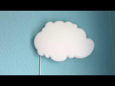 Ikea Lampe Wolke DRÖMSYN  Wandleuchte Babyzimmer Kinderzimmer