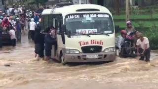 Mưa đầu mùa gây ngập tại Lào cai