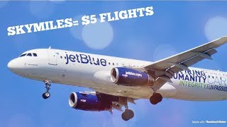 How I Travel Cheap Using SkyMiles | Flights Only $5