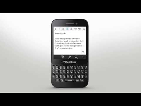 Keyboard & Typing: BlackBerry Q5 - Official How To Demo