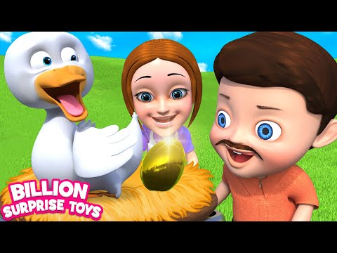 Goose That Laid the Golden Eggs | Moral Song | Nursery Rhymes & Kids Songs