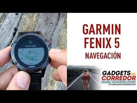 Garmin Fenix 5: rutas y navegación