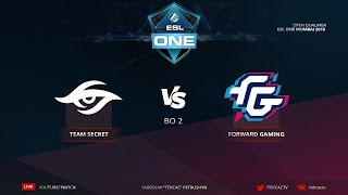 [RU] Team Secret vs Forward Gaming | bo2 | ESL One Katowice 2019 by @Tekcac