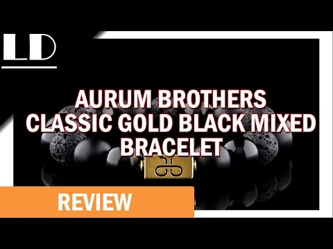 Aurum Brothers Classic Gold Black Mixed Bracelet