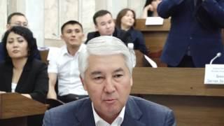 М.АБДЫЛДАЕВ АКЫЛСЫЗ ДЕПУТАТТАРГА АЙТА БЕРИП ТАЖАДЫ...