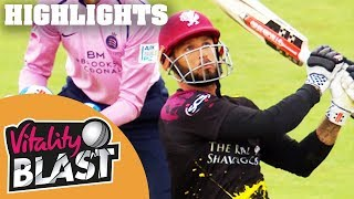 Hosts Hit 5th Highest Score Of Blast 2018 | Somerset v Middlesex | Vitality Blast 2018 - Highlights