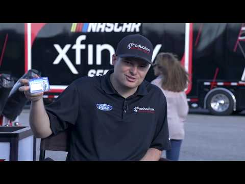 Unboxing: Cole Custer checks out Panini's new PRIZM NASCAR Trading Cards