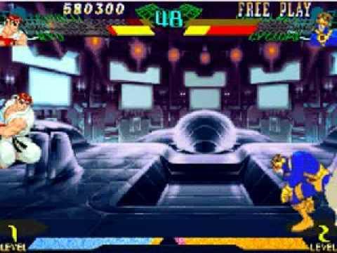 Playtrought : Marvel Super Heroes Vs. Street Fighter - Queda poco... - [03/04]