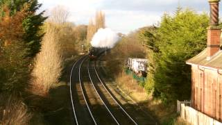 preview picture of video 'Chester 22.11.2014 - 44871 and 45407 Lancashire Fusilier on Christmas Cheshireman'